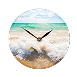 Glass photo clock