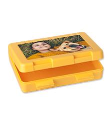 Boîte sandwich jaune de Pixum avec votre photo