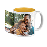 Photo mug with coloured inside