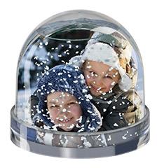 Boule de neige de Pixum avec votre photo