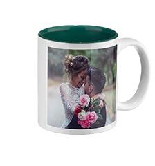 Mug photo avec intérieur vert de Pixum