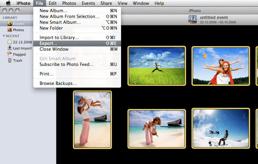 Using iPhoto on Windows as Photo Transfer
